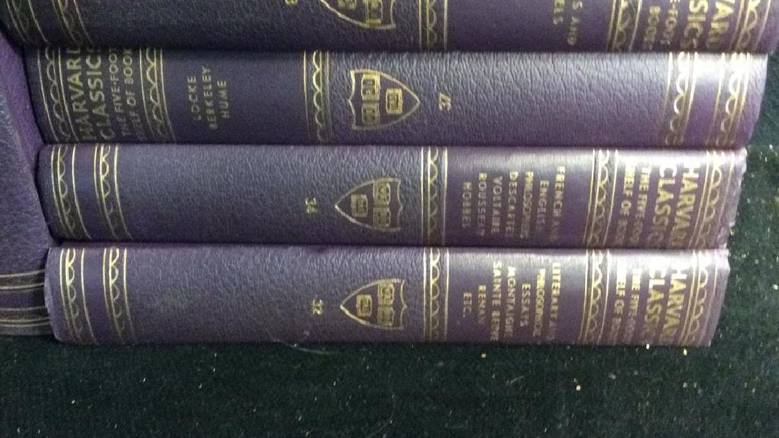 Set 9 Purple Leather Harvard Classic Books - 5