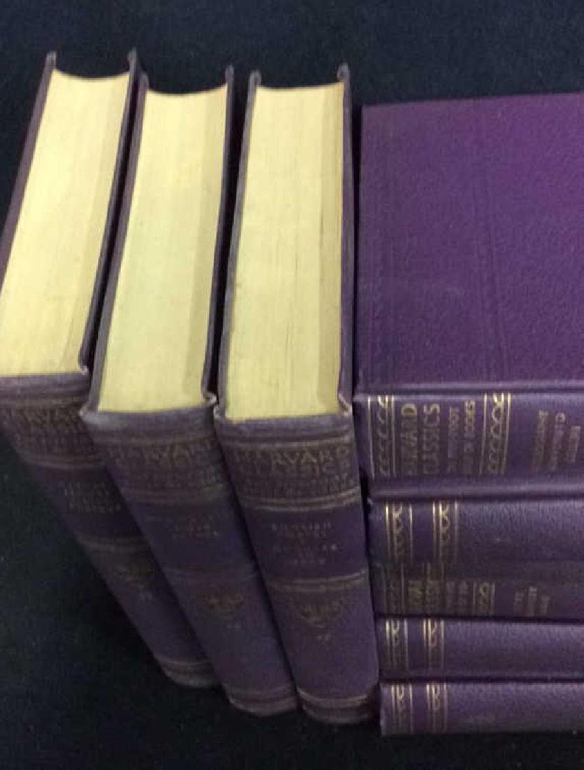 Set 9 Purple Leather Harvard Classic Books - 7