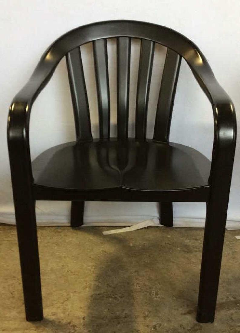 Lot 2 Black Wooden Toned Chair 1 Pillow
