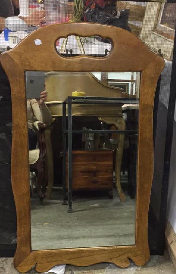 Vintage Carved Wood Shaped Mirror
