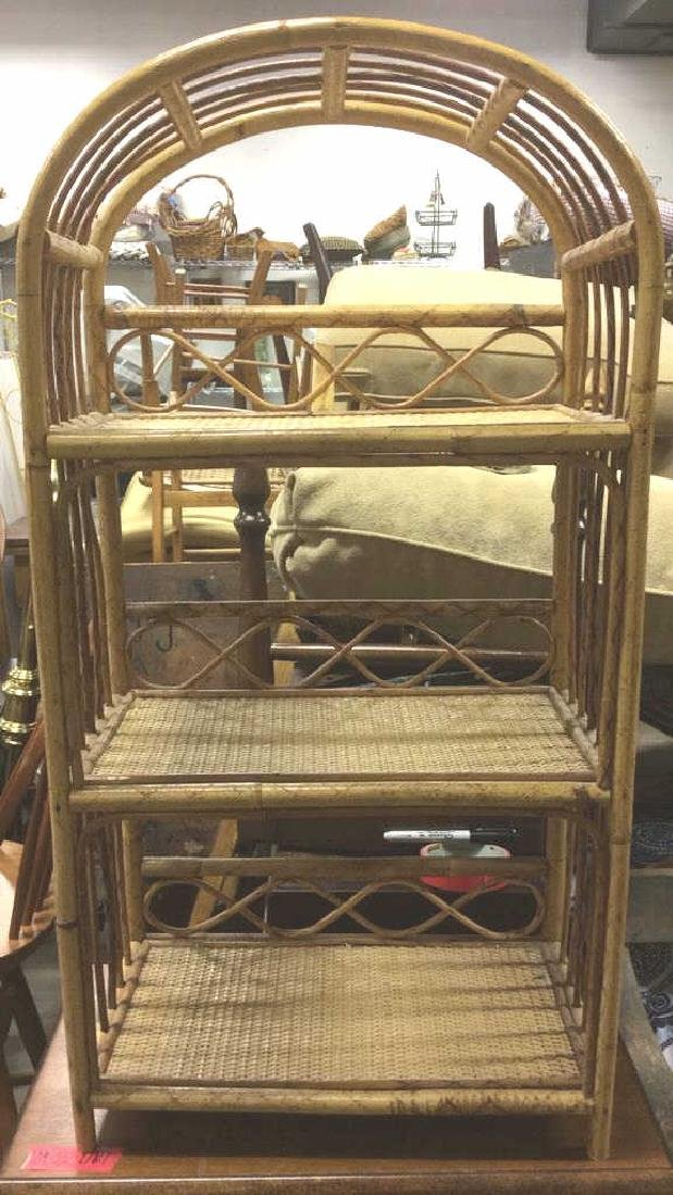 Woven Wicker & Possibly Bamboo Display Rack