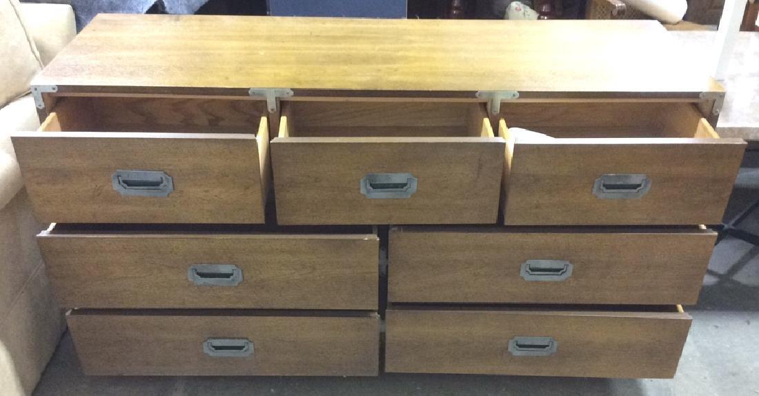 BERNHARDT 7 Drawer Wooden Dresser Campaign Style - 2
