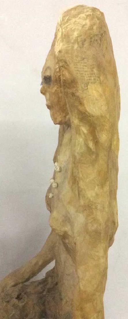 Lot 2 Sitting Woman Paper Mache Sculpture - 5