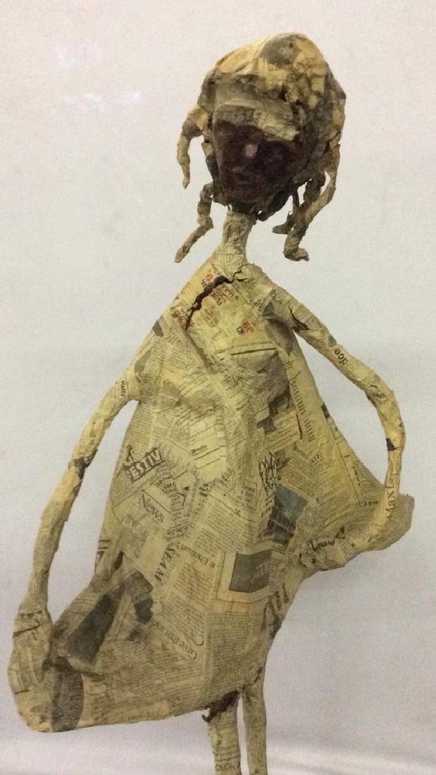 Slim Female Figure Paper Mache Sculpture - 2