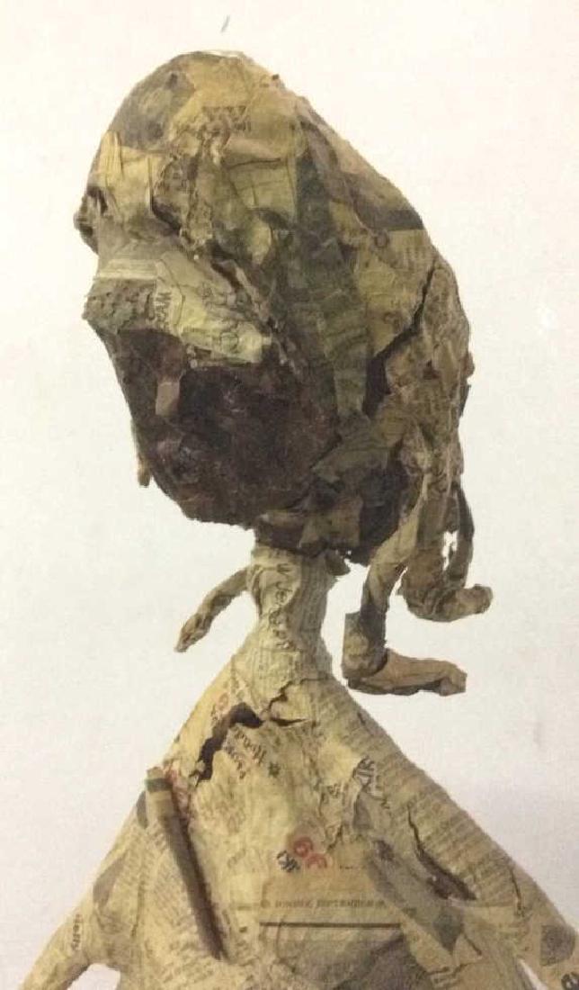 Slim Female Figure Paper Mache Sculpture - 3