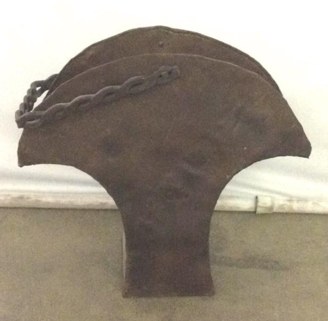 Brown Toned Metal Coal Bin W Handle