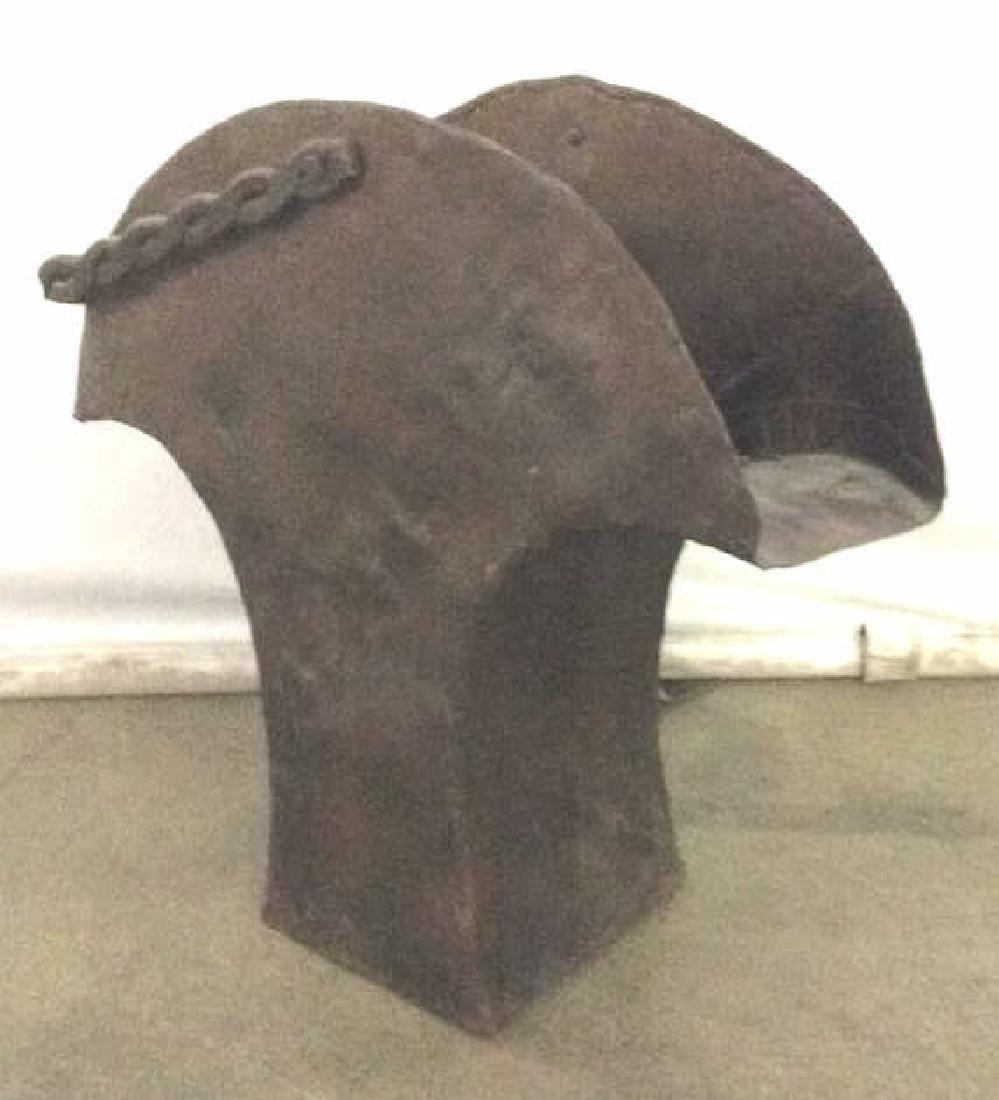 Brown Toned Metal Coal Bin W Handle - 3