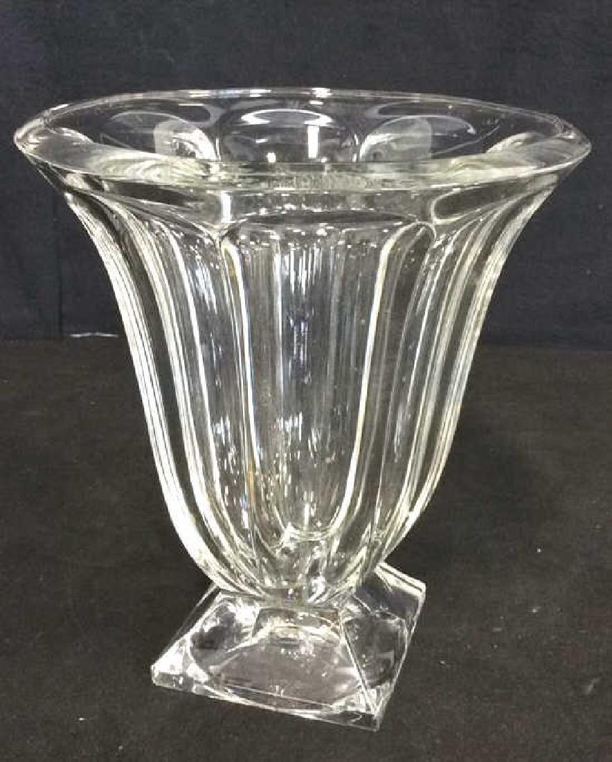 Large Vintage Footed Crystal Vase