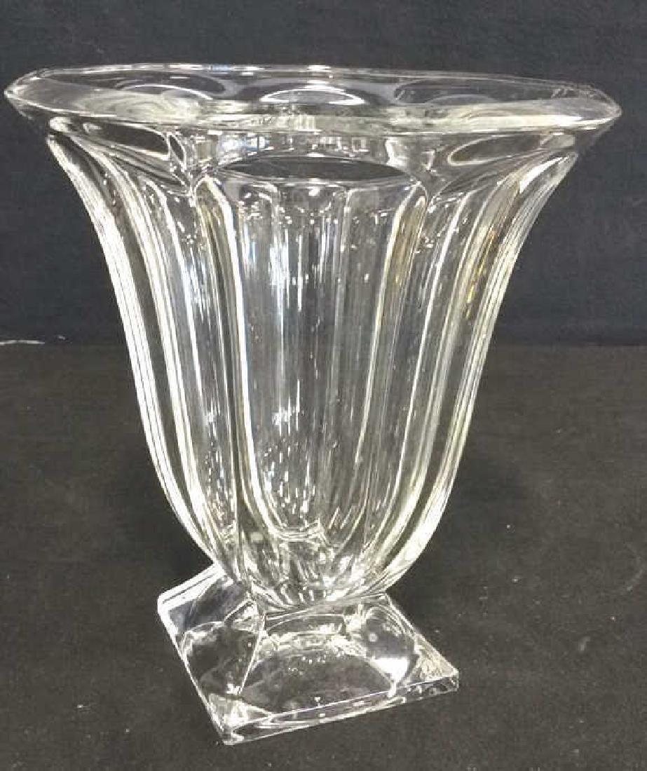 Large Vintage Footed Crystal Vase - 2