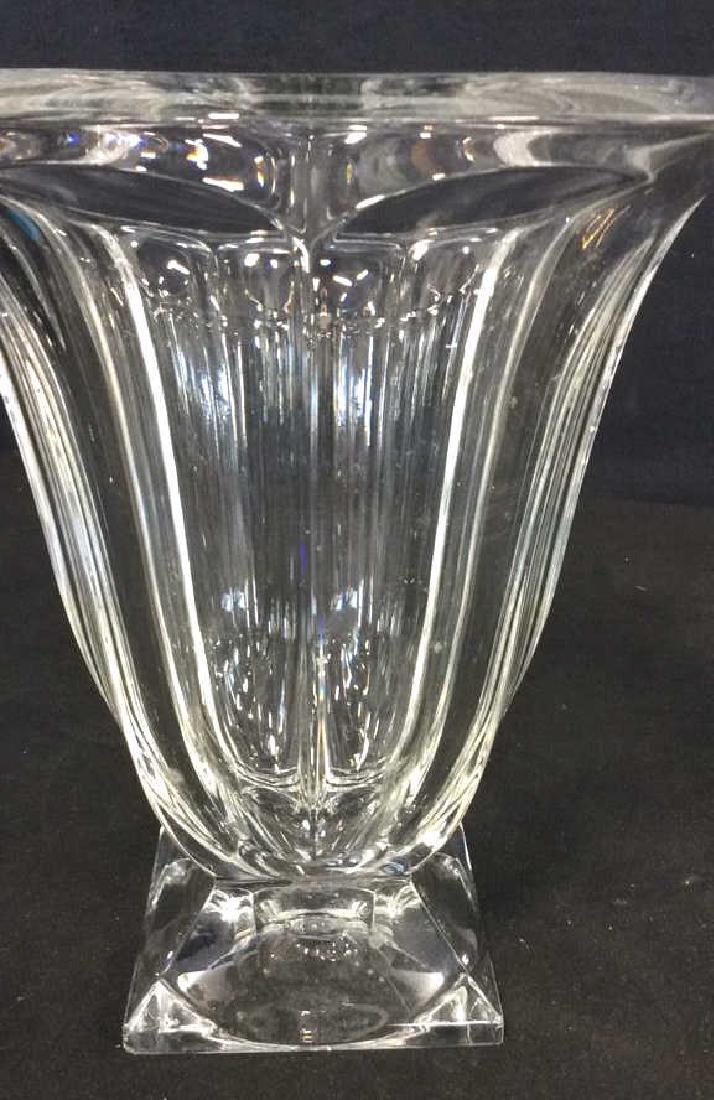 Large Vintage Footed Crystal Vase - 3