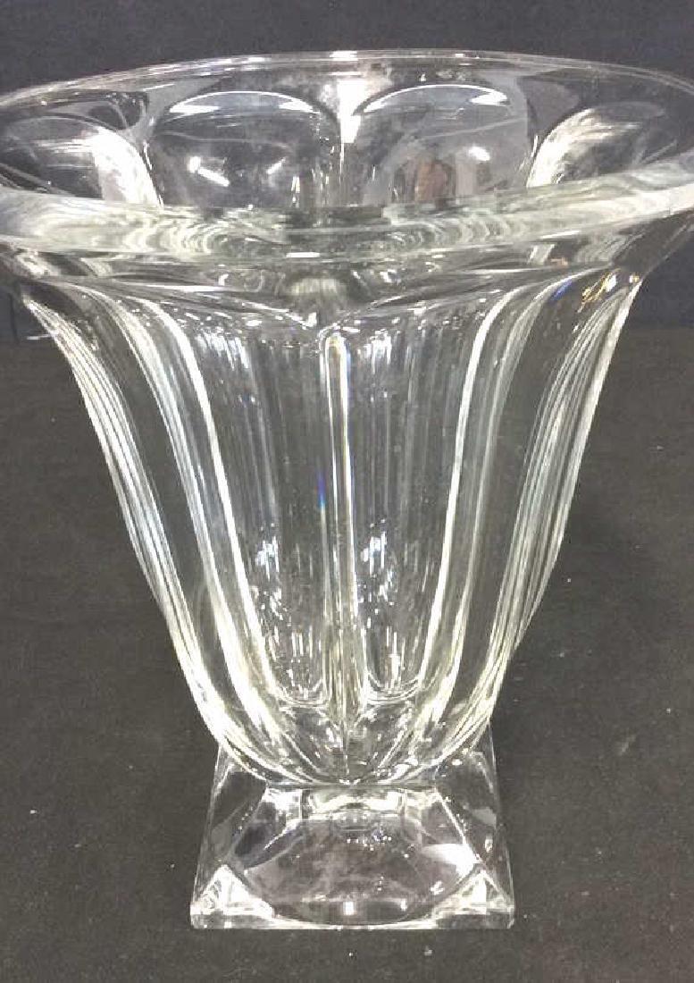 Large Vintage Footed Crystal Vase - 7