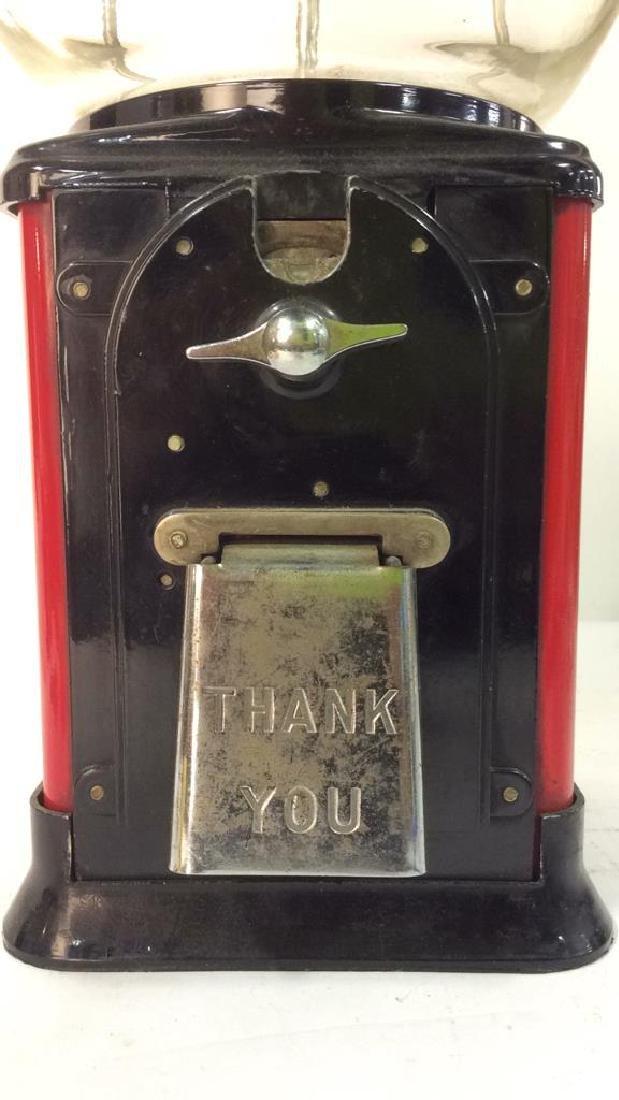 Vintage Metal Glass Painted Gum Ball Machine - 4