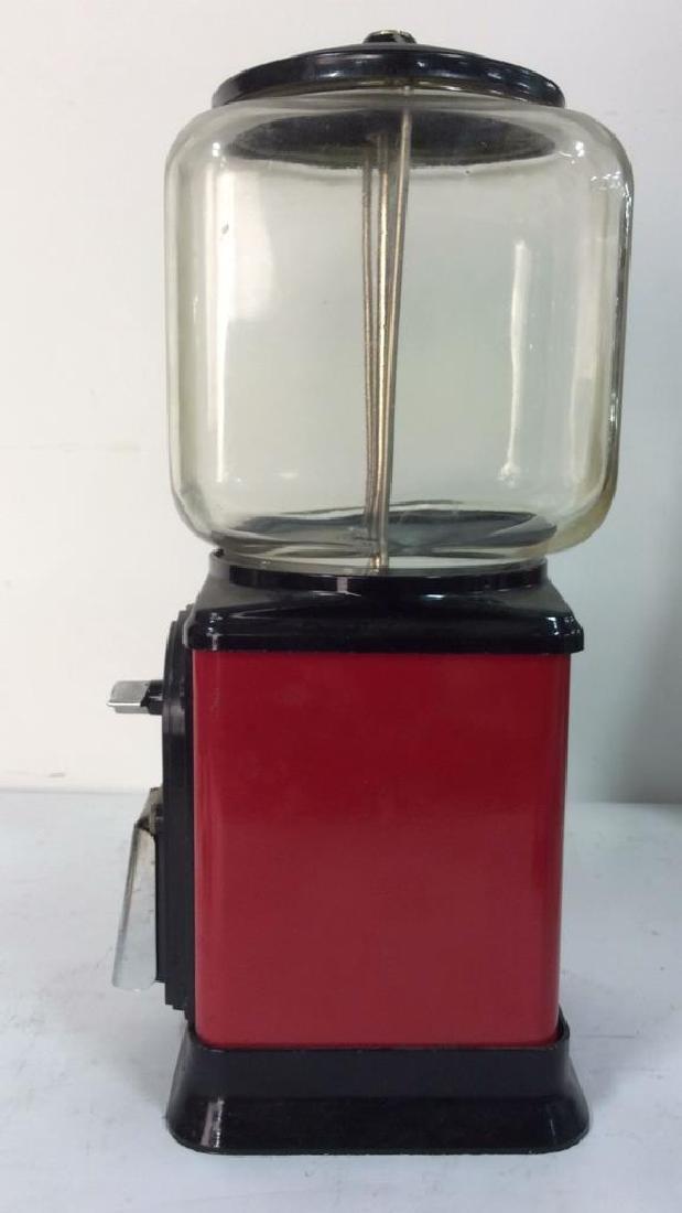 Vintage Metal Glass Painted Gum Ball Machine - 7