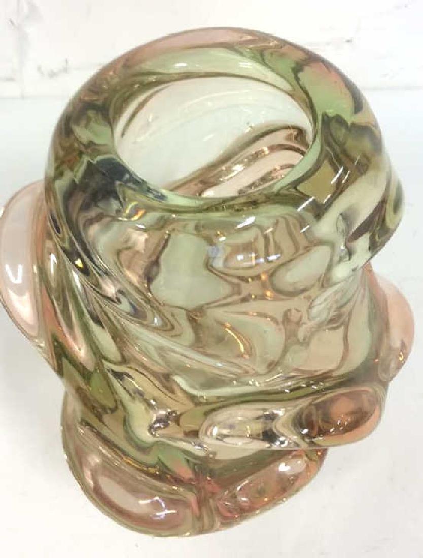 Mid Century Modern Murano Style Art Glass Vase - 5