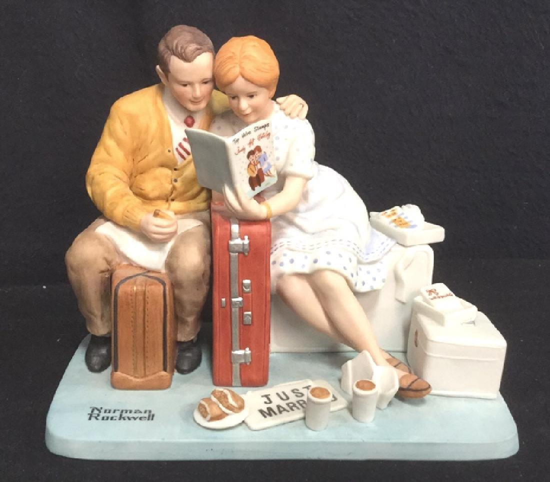Norman Rockwell Newlyweds Porcelain Figurals