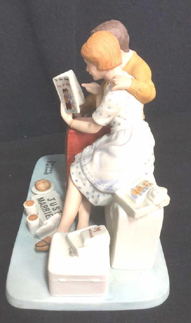 Norman Rockwell Newlyweds Porcelain Figurals - 3
