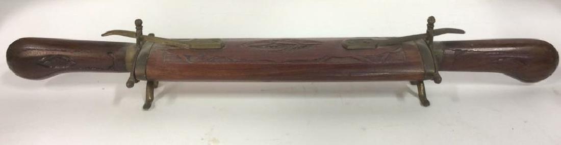 Lot 3 Carved Wooden Handled Knife Set