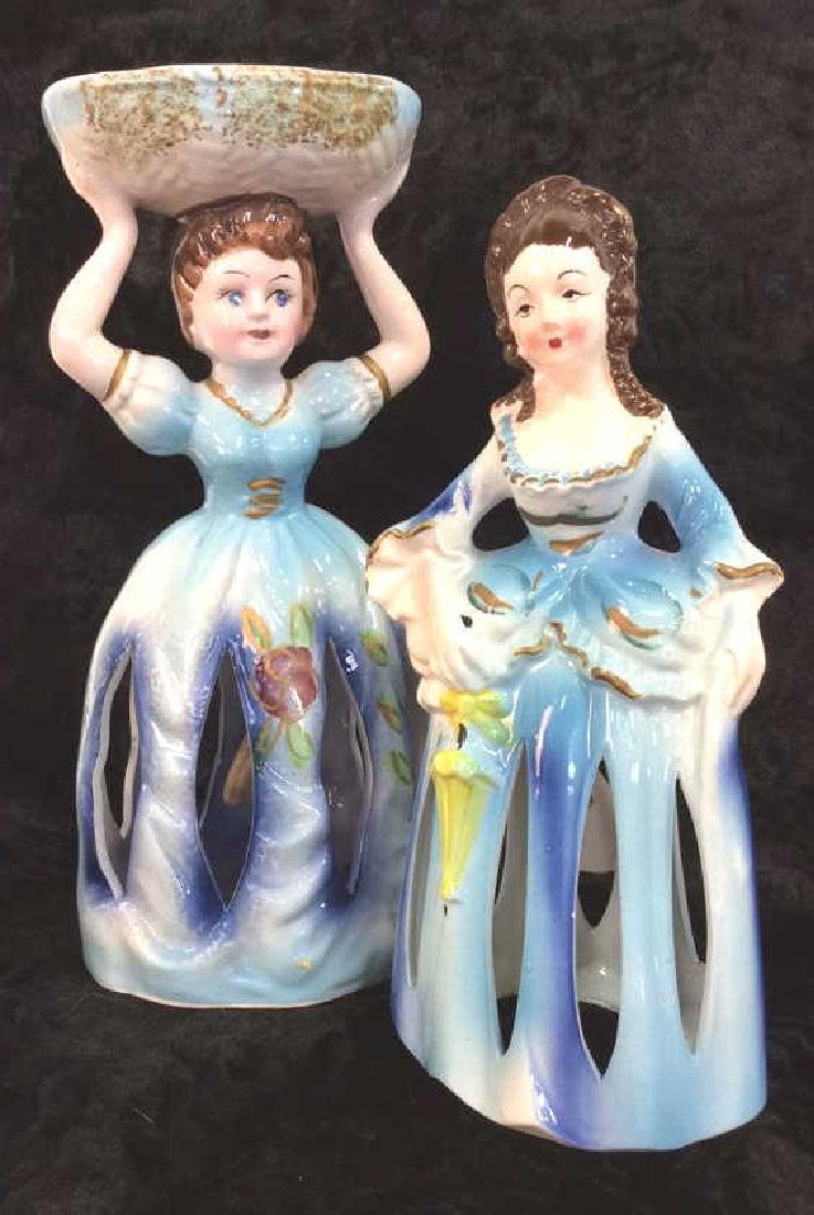 Pair Vintage Napkin Ladies