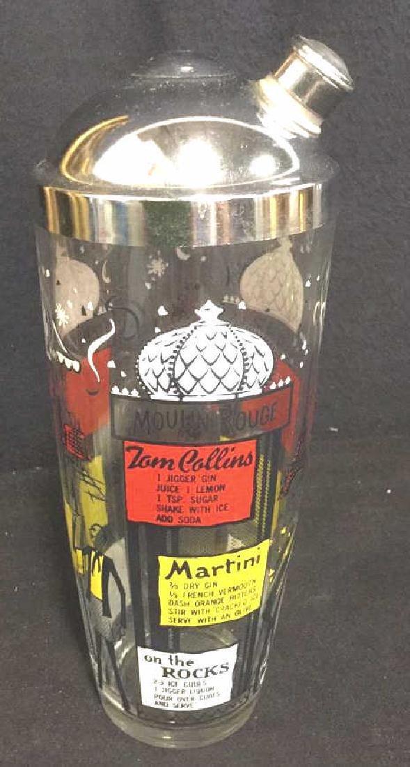 Vintage Paris Themed  Cocktail Shaker