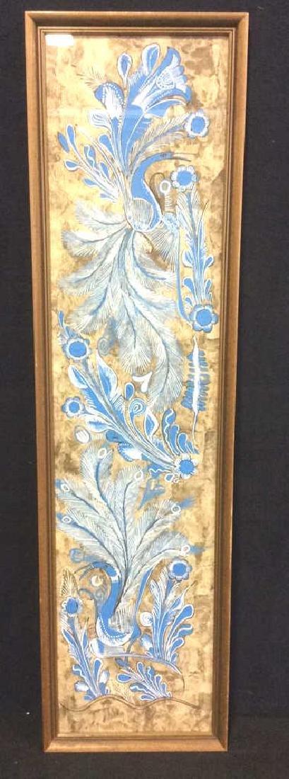 Framed Painting On Handmade Paper