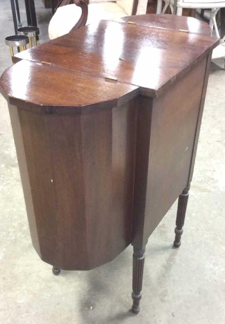 Vintage Mahogany 3 Drawer Sewing Table Labeled - 4