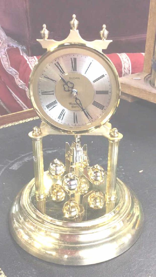 Glass Domed Brass Clock, Germany - 7
