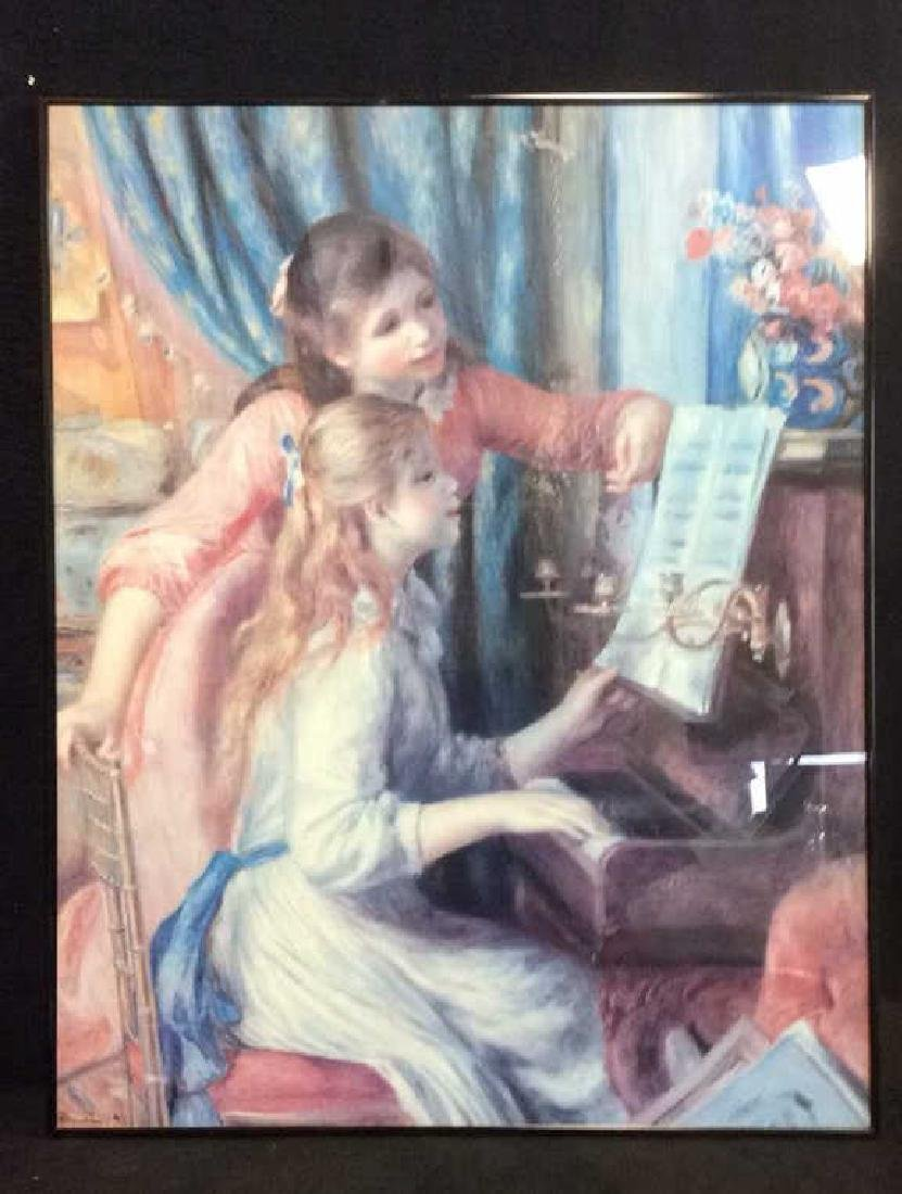 Framed Girls On Piano Print