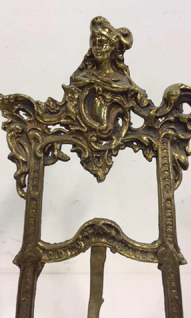 Gilded Style Metal Art Nouveau Stand