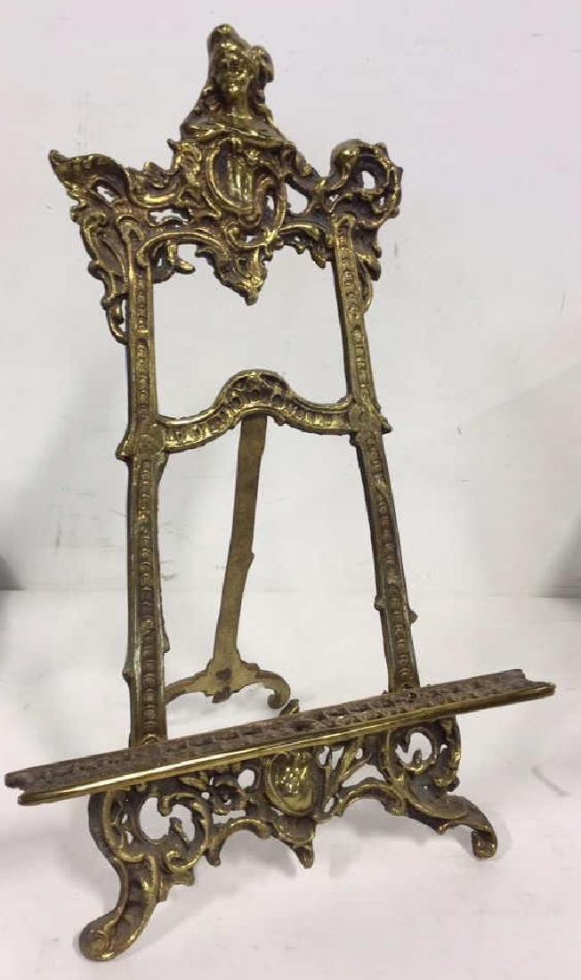 Gilded Style Metal Art Nouveau Stand - 4