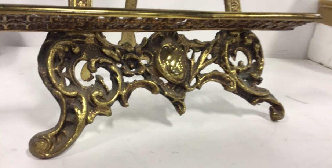 Gilded Style Metal Art Nouveau Stand - 5