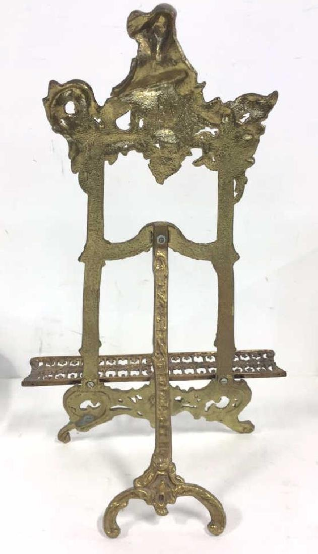 Gilded Style Metal Art Nouveau Stand - 6