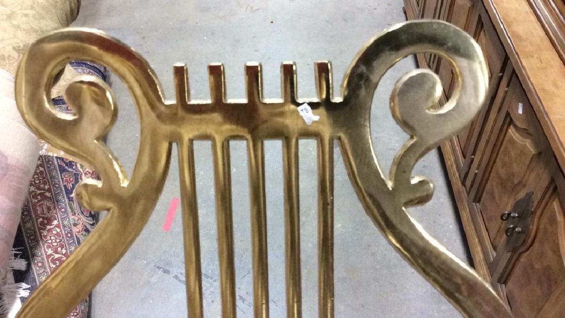 Vintage Brass Harp Form Music Stand - 5