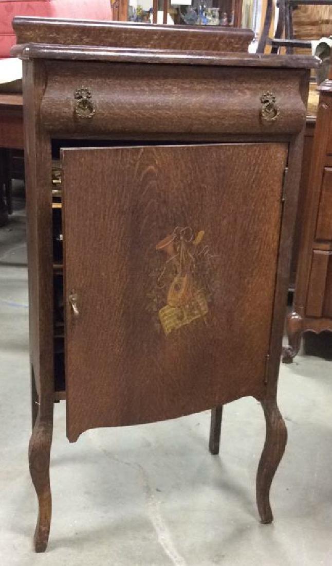 Antique Oak Music Cabinet