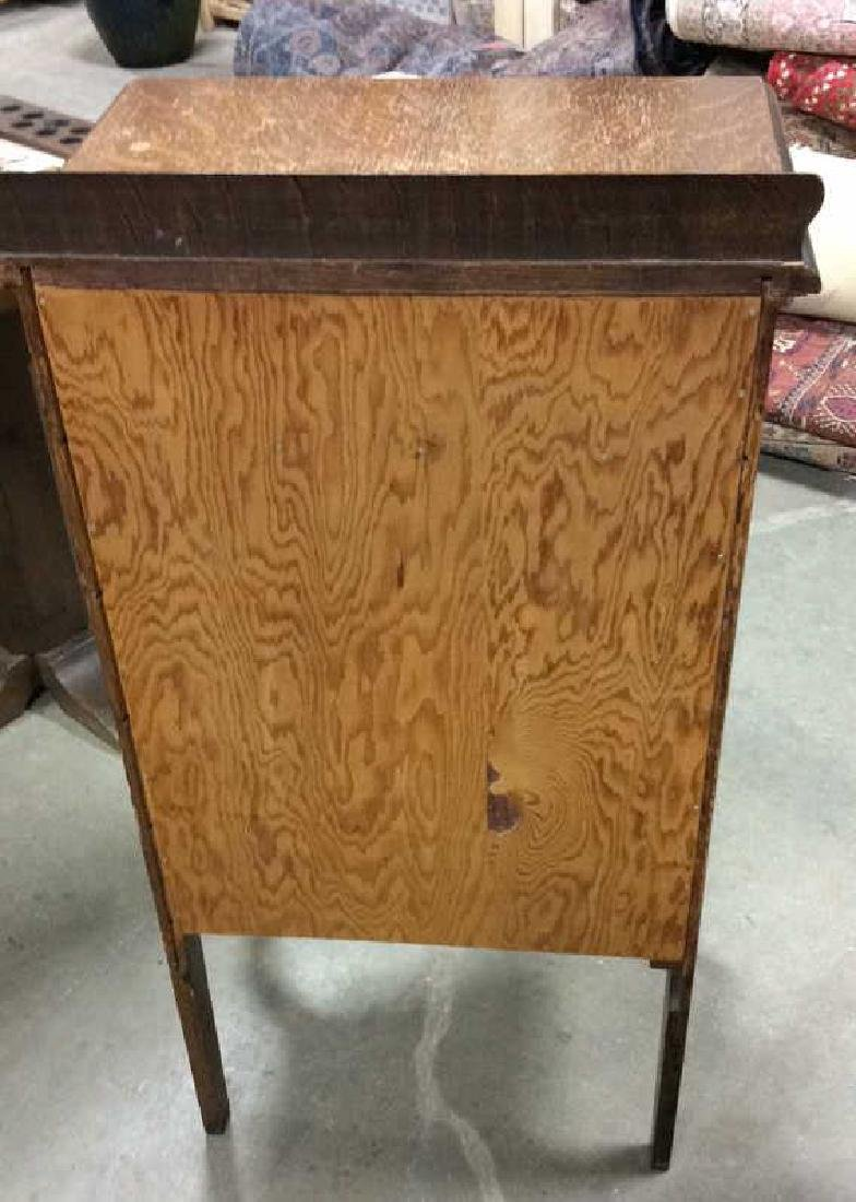 Antique Oak Music Cabinet - 7