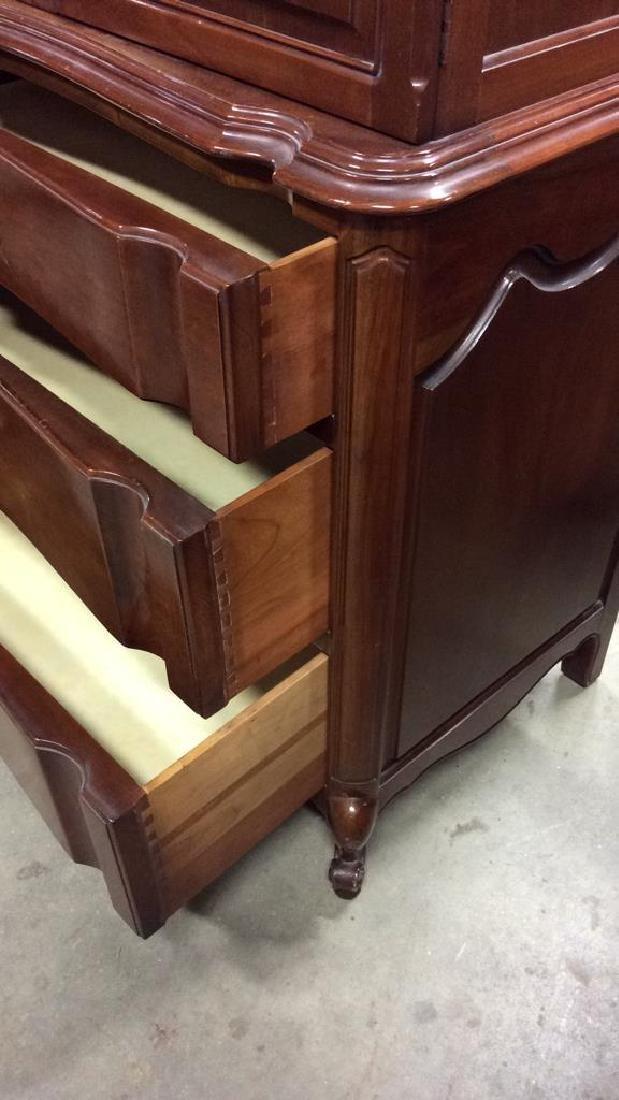 High Boy Style Wood Dresser Chest - 4