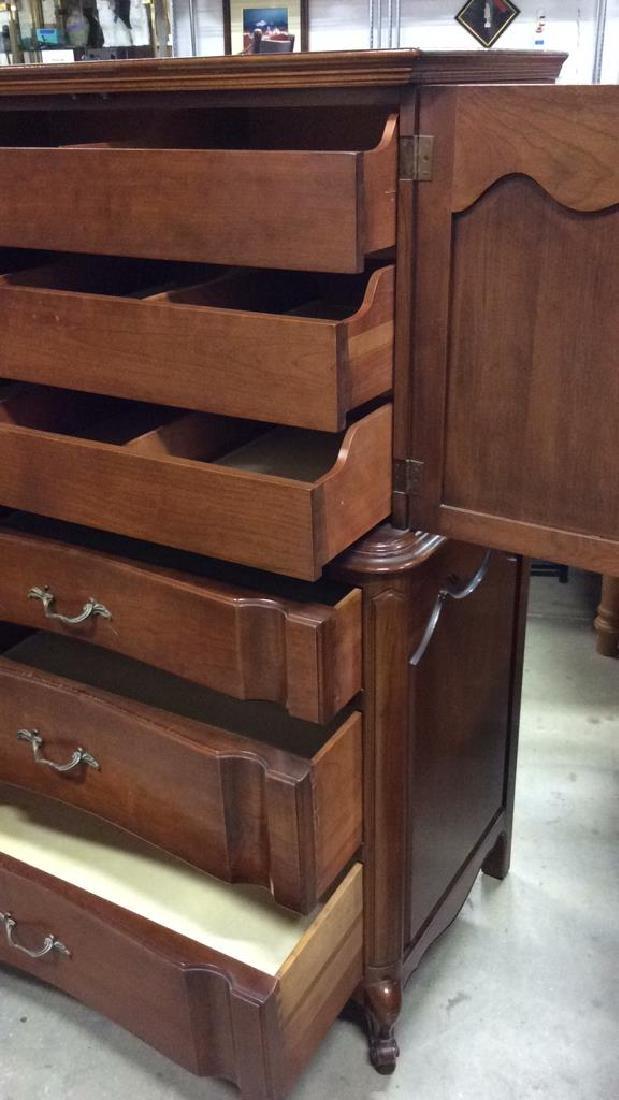High Boy Style Wood Dresser Chest - 5