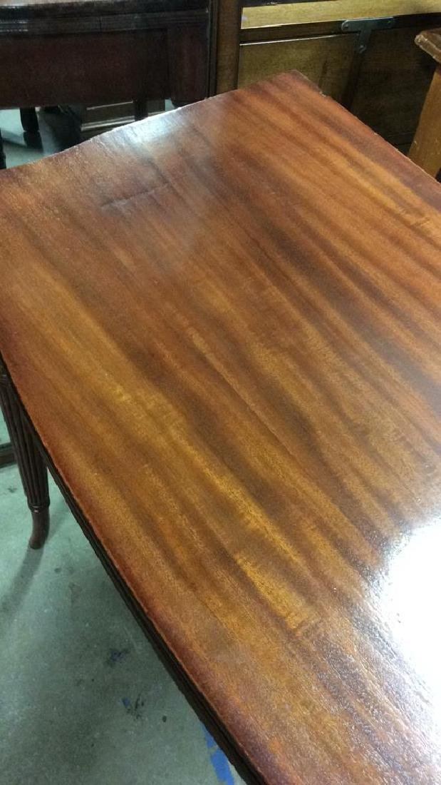 Flip Top Mahogany Game Table - 5