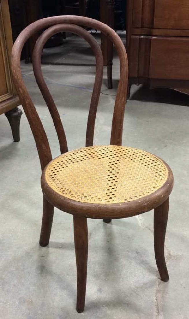 Antique Child's Bentwood Caned Chair