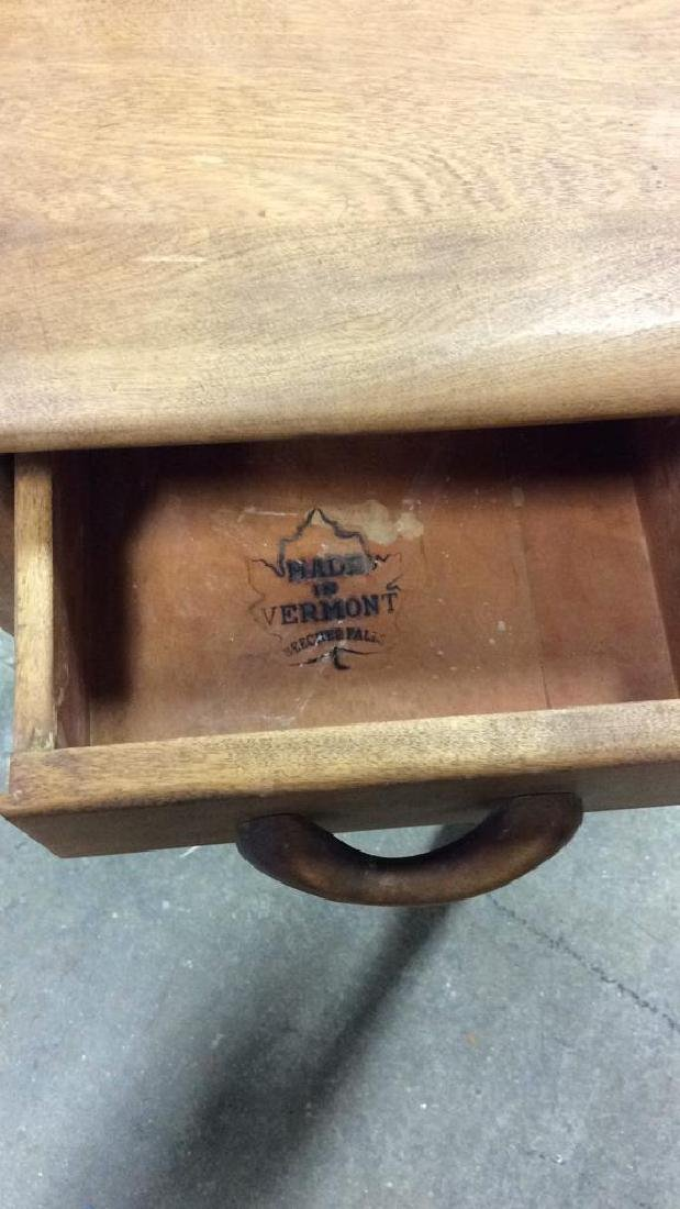 Vermont Made Wood Side Table - 6