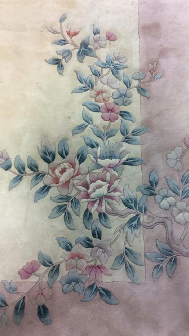 Chinese Art Deco Wool Pile Fringed Rug