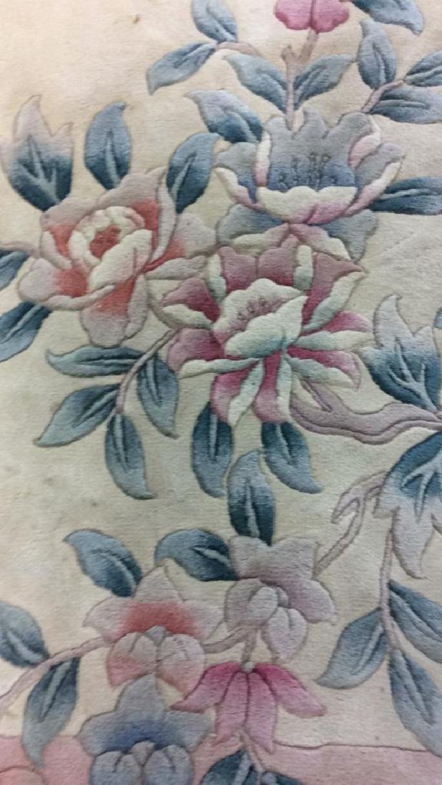 Chinese Art Deco Wool Pile Fringed Rug - 2