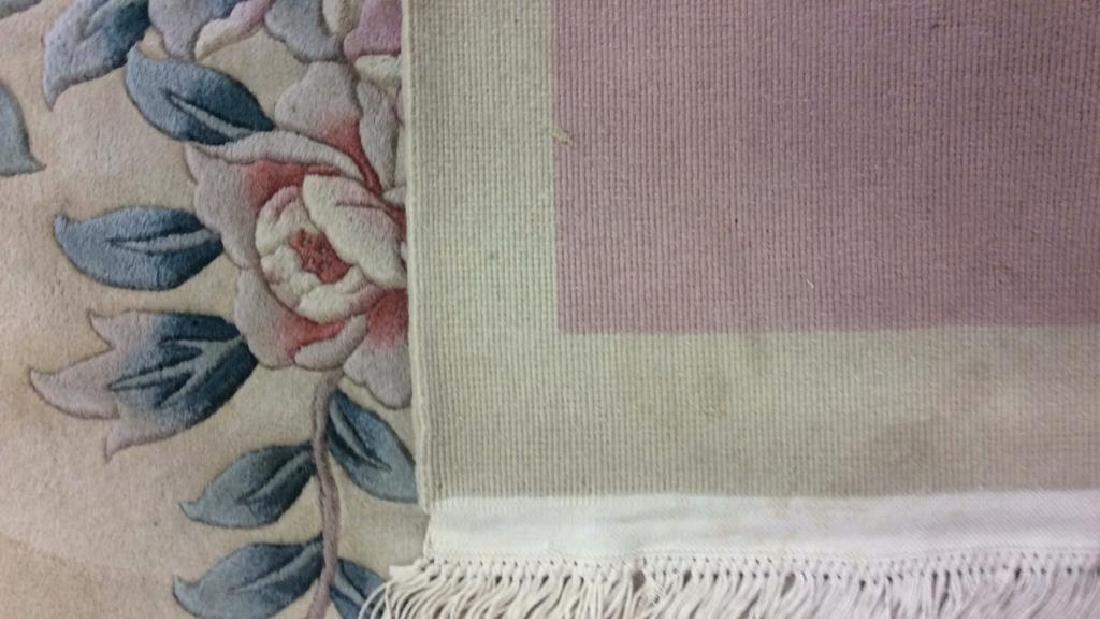 Chinese Art Deco Wool Pile Fringed Rug - 4