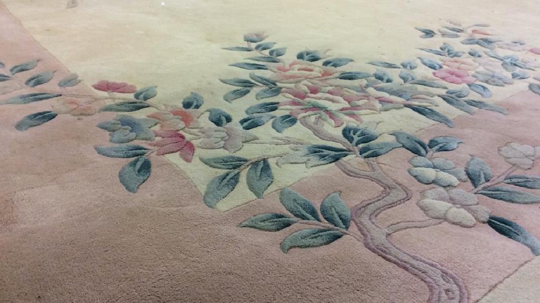 Chinese Art Deco Wool Pile Fringed Rug - 7