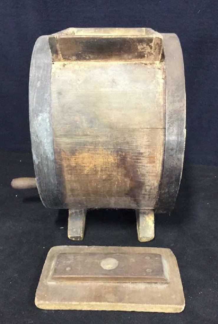 Antique Wood Metal Iron Butter Churn - 5