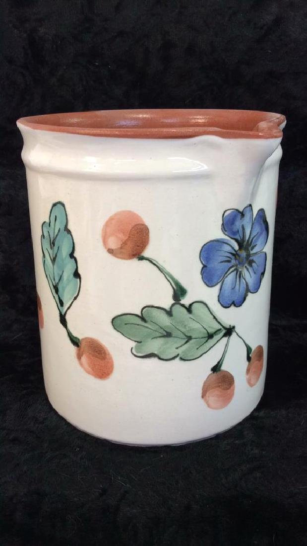 Hand Painted Hungarian Ceramic Pitcher - 3
