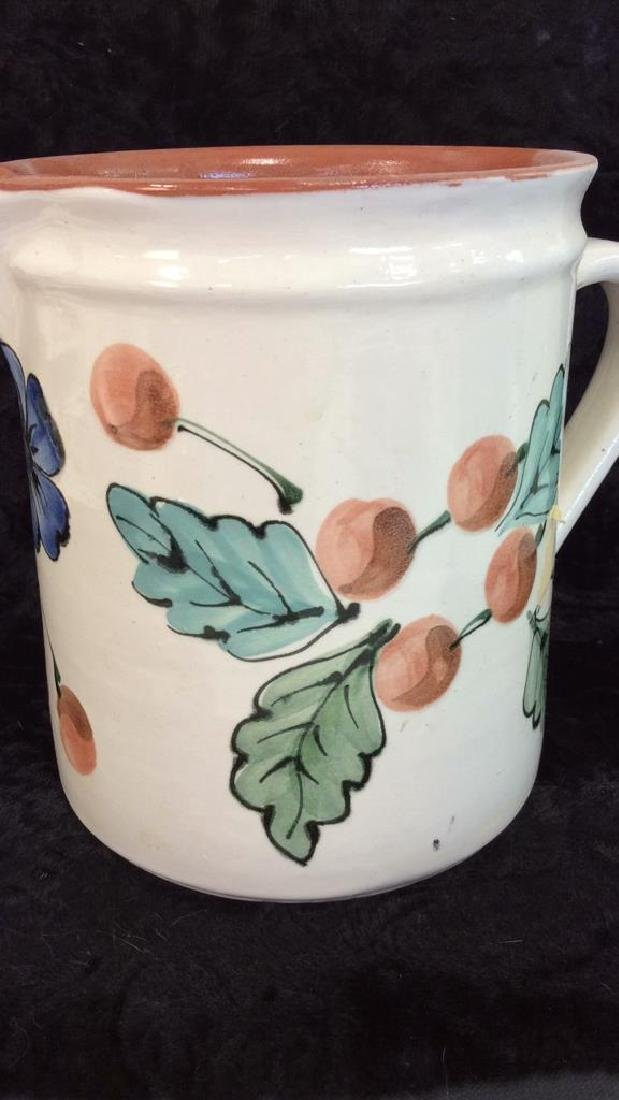 Hand Painted Hungarian Ceramic Pitcher - 4