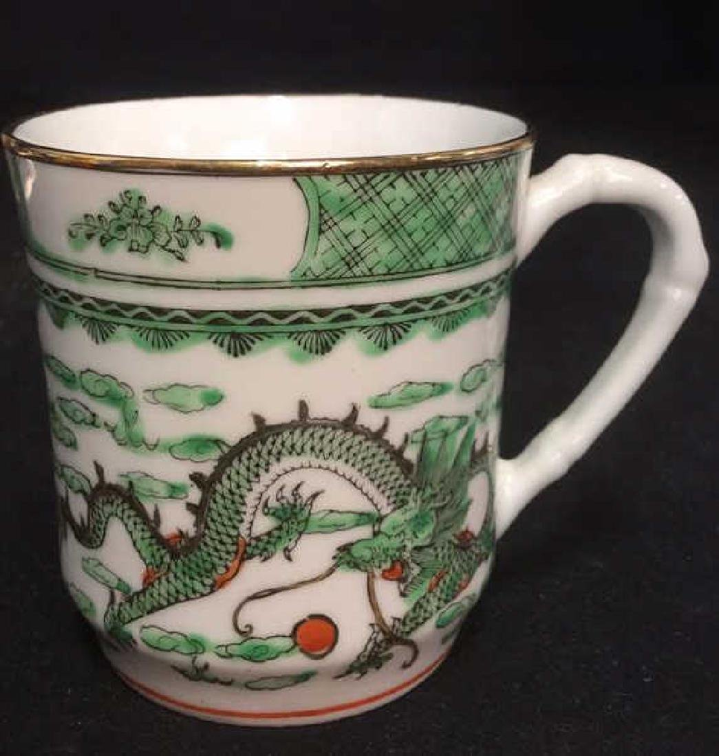 Lot 2 Oriental Ceramic Porcelain Cups - 2