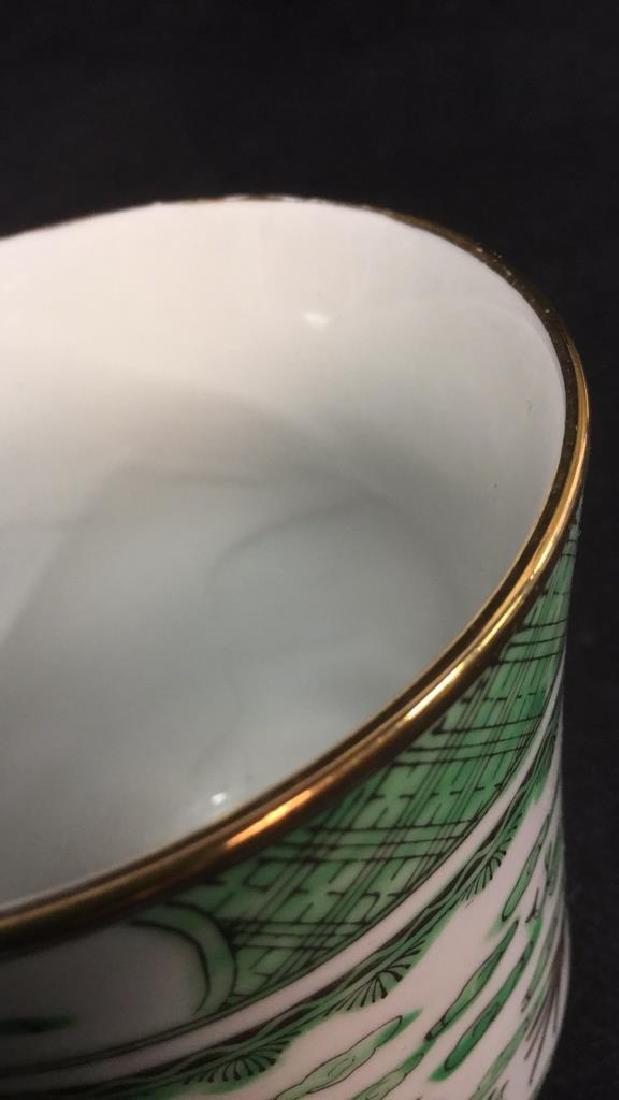 Lot 2 Oriental Ceramic Porcelain Cups - 5