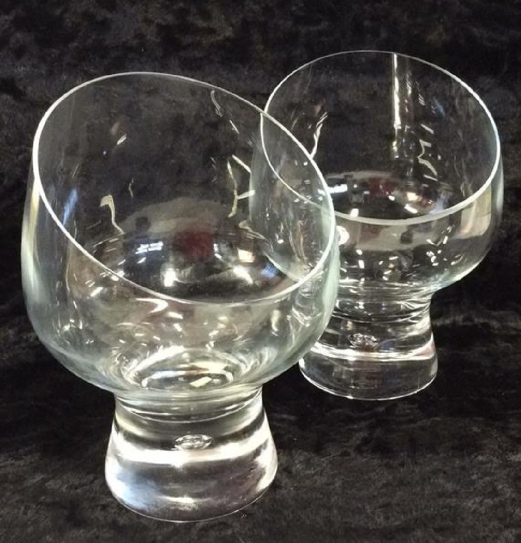 Pair Poss Vintage DANSK Glass Candleholders