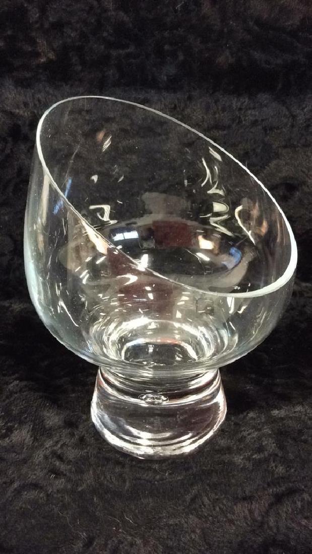 Pair Poss Vintage DANSK Glass Candleholders - 4